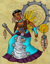Turquoise Steampunk Native