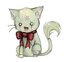 Zombie Kitty by KiyaKoda