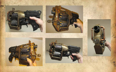 Steampunk Judge Dredd pistol