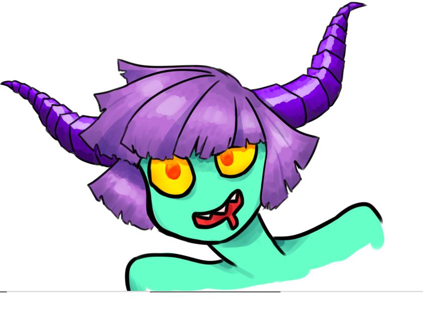 demon girl by somtehingsomething