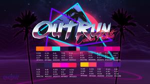 Outrun Colour Palette