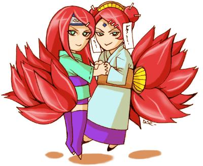 Kushina and Mito by daevakun
