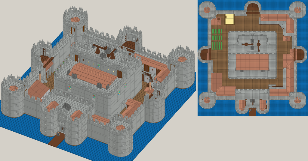 Big Castle Full Aerial View By Blackfire Dragon On