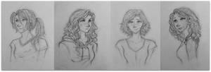 Lunar Girls by dreamart2611