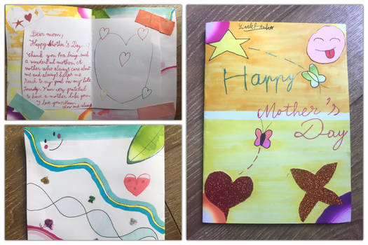 Here is my Mother's Day card for my dear Mom