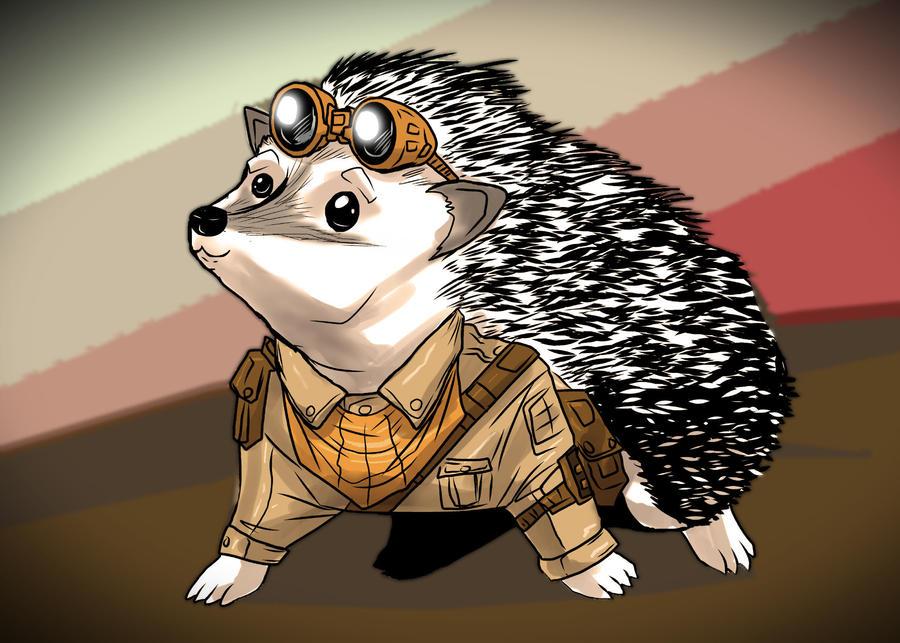 steampunk hedgehog by ChrisHolm