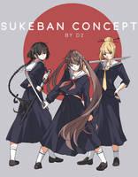 Sukeban Sisters by KumagamiHaruna