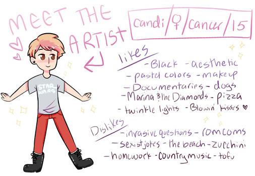 Meet The Artist Tag!