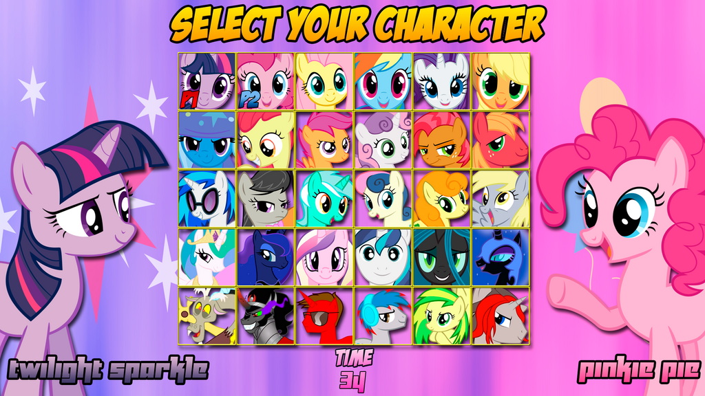 MLP: Friendship is Magic Character Select Screen by ...
