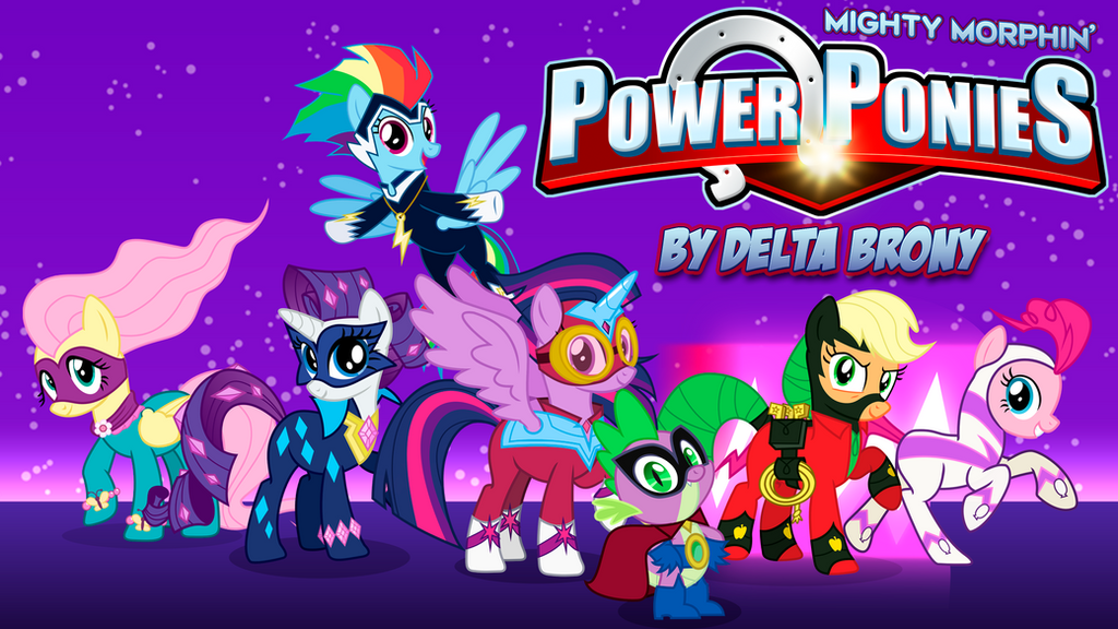 [MMPR x MLP FiM] Mighty Morphin' Power Ponies by DashieMLPFiM