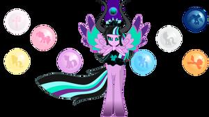 Queen Tirevine Sparkle ~Dark Friendship Goddess~