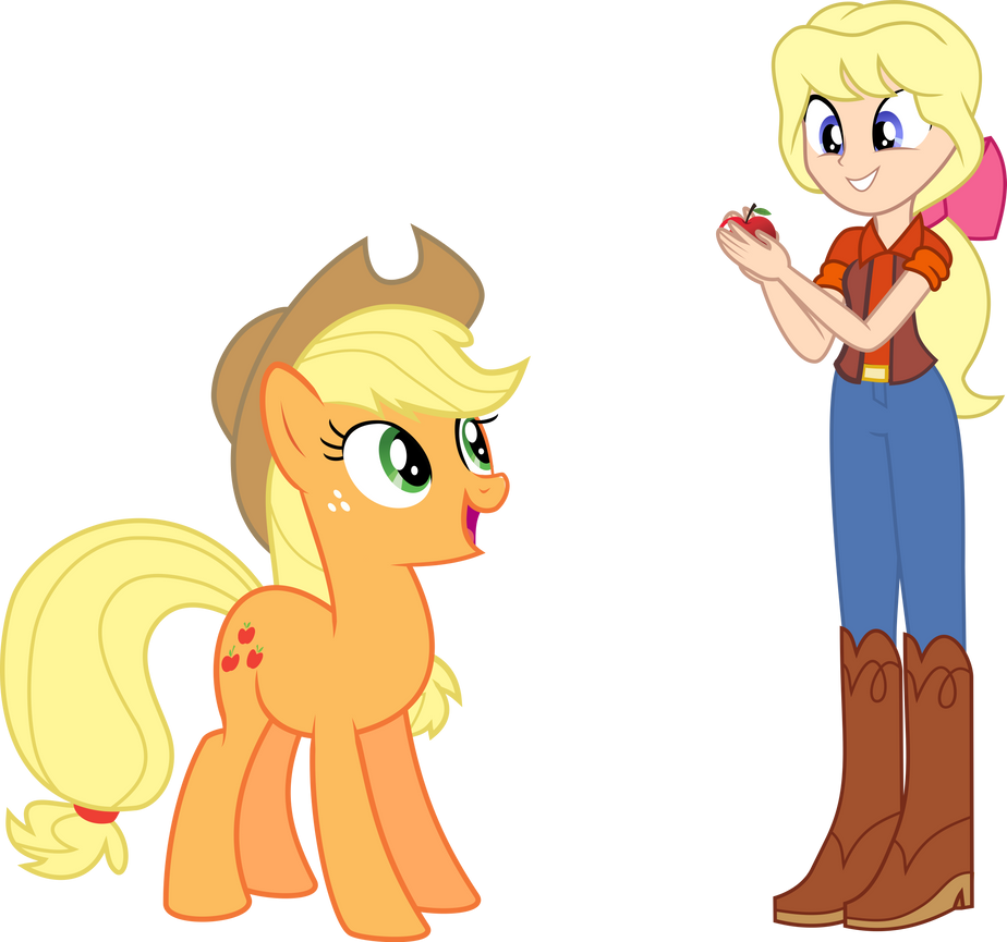applejack_and_megan_by_dashiemlpfim-d90n