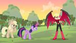 Twilight Sparkle vs. Princess Dark Matter by DashieMLPFiM