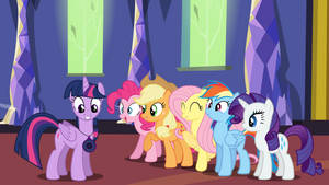 Twilight Shows The Device to Her Friends