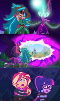 Gaea and Midnight Heading to Equestria