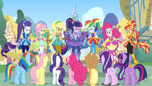 Ponies Meeting The Human Counterparts