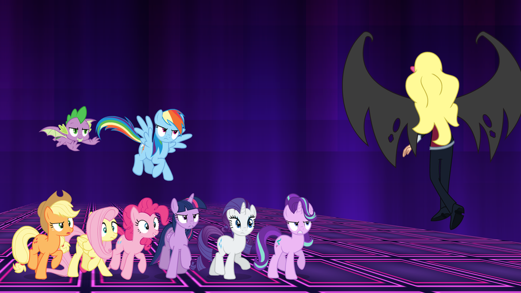 The Ponies' Confrontation by DashieMLPFiM