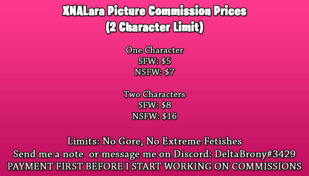XPS Picture Commissions OPEN