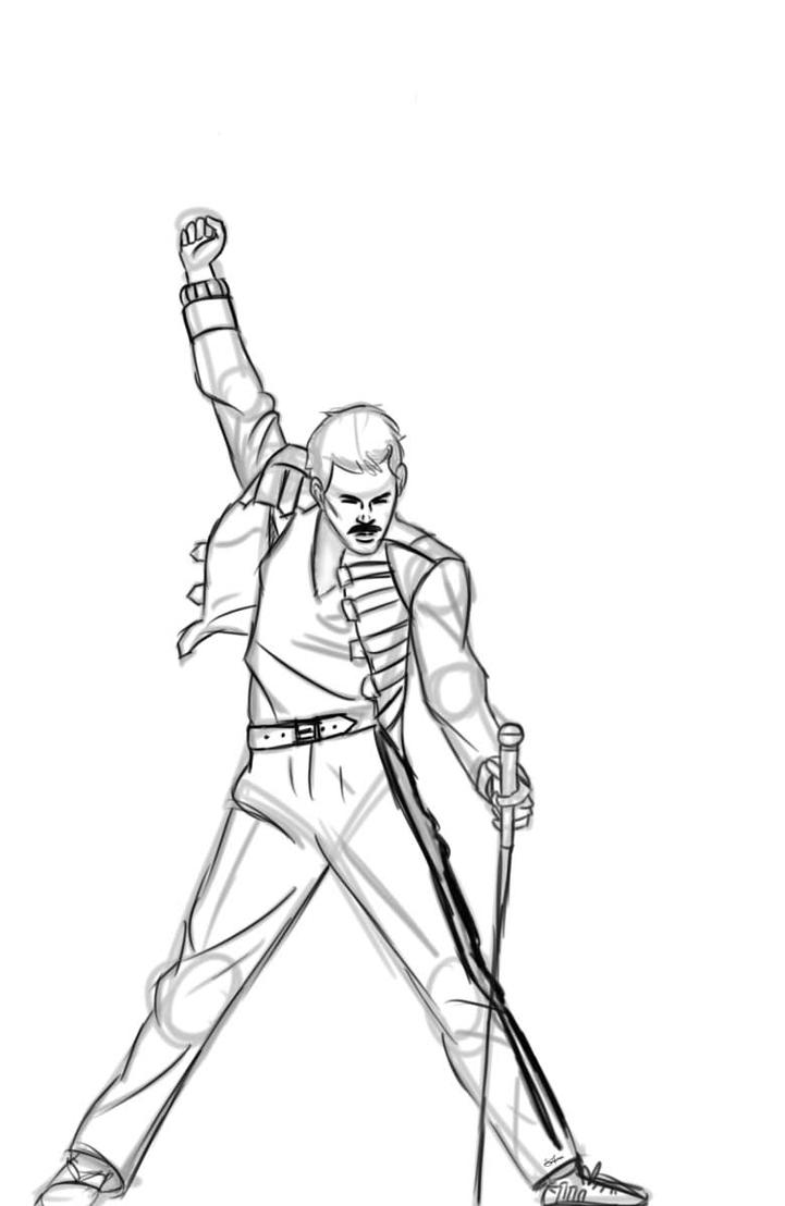 freddie mercury by cptnkickass on deviantart