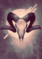 Speed paint - ram skull by nichelenjones