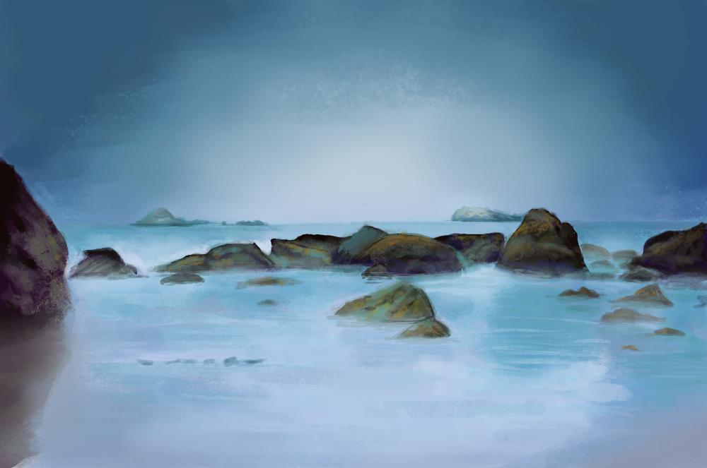 Sea Rocks Stock By Little Spacey-d4on68p Study 12  by nichelenjones