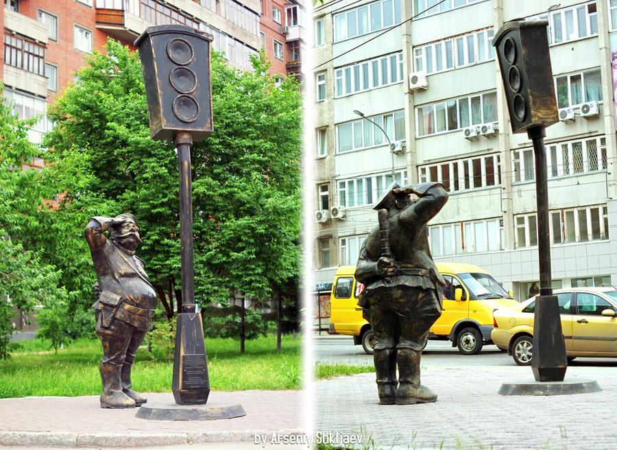 Traffic Light Statue by gamebalance