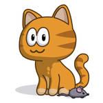 Cute orange cat :3 by gamebalance