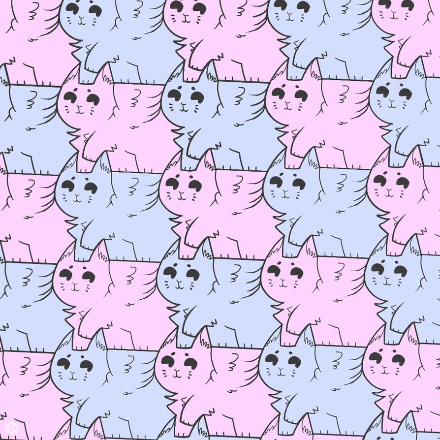 Winged Cats Tessellations Pinterest Art School Cats