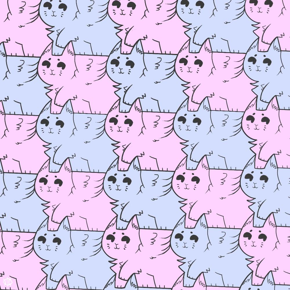 Some Winged Cat Tessellation 432301456 on Tessellation Ideas