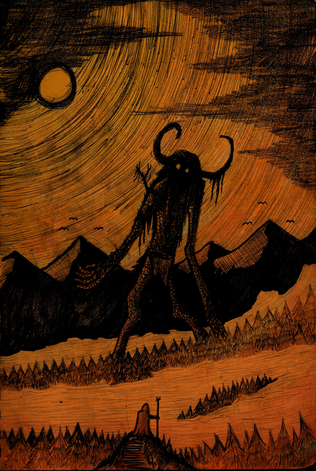 Greeting the Horizon by hellduriel
