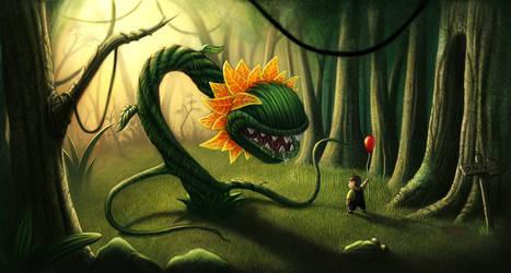 red baloon by Bonekrishna