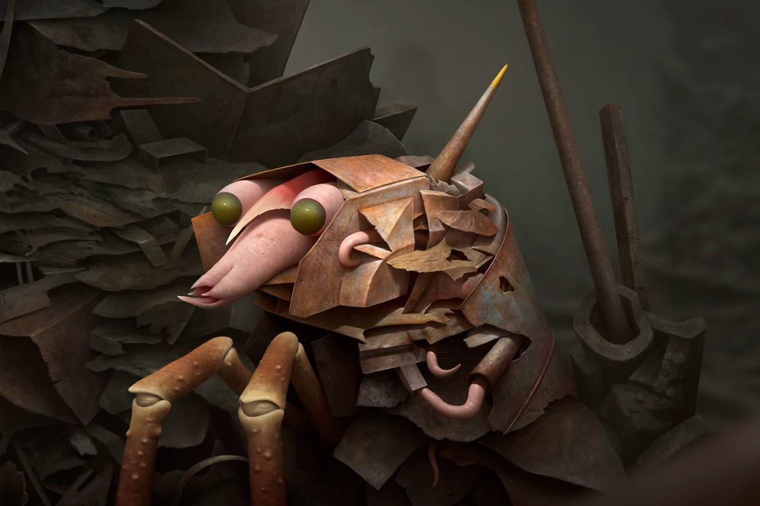 Knight Crab by Bonekrishna