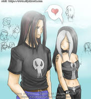 Katrina walking with Joey by NinjaKasumi123