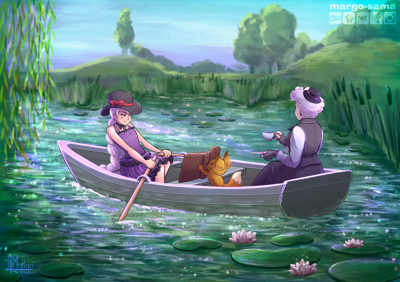 [Commission] On the lake by Margo-sama
