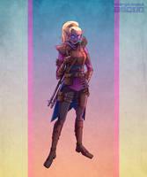 [Commission][DnD] Dark Elf Artificer Gunsmith by Margo-sama