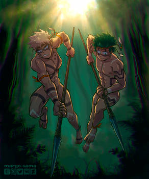 [Commission][BNHA] Tribal Hunters by Margo-sama