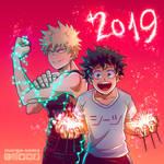 [BNHA] Happy 2019! by Margo-sama