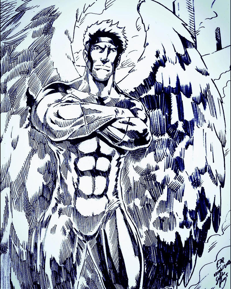 -Warren Kenneth Worthington III Angel (FanArt) by geraldoaraujo