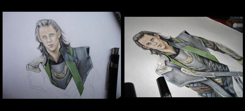 Loki WIP by SeaSaltJunkie