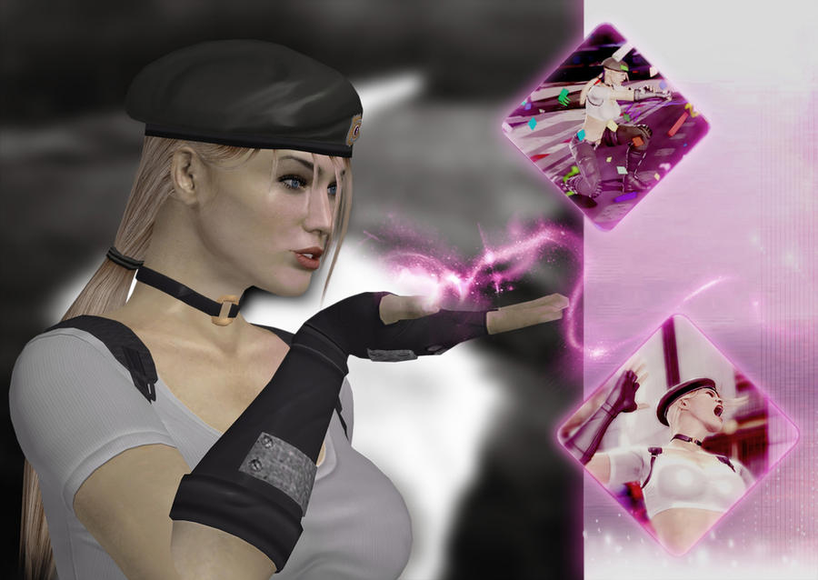 Sonya Blade kiss - wallpaper - by deexie