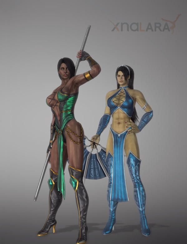 Jade And Kitana Primary Unmasked By Deexie On Deviantart