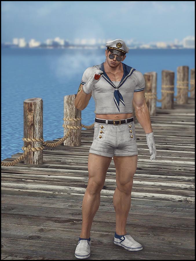 Chris Redfield (Sailor Man) by deexie
