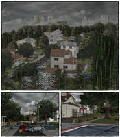 Neighborhood scenery by deexie