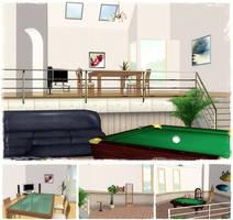 Living Room (scenery) by deexie