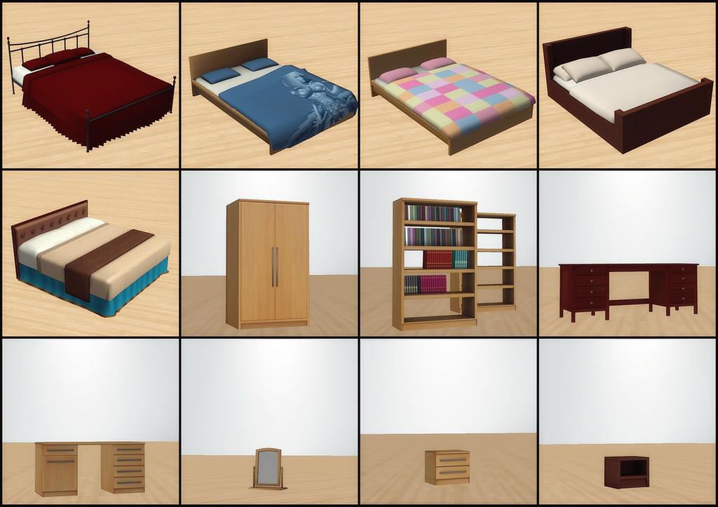 Bedroom Furniture Pack by deexie