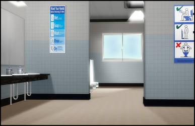 Public Restroom by deexie