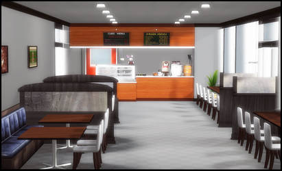 Cafe (inside) by deexie