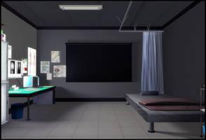 Dark Hospital Room by deexie