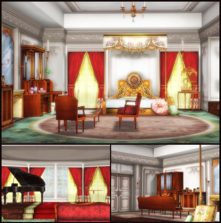 Oriental Bedroom by deexie