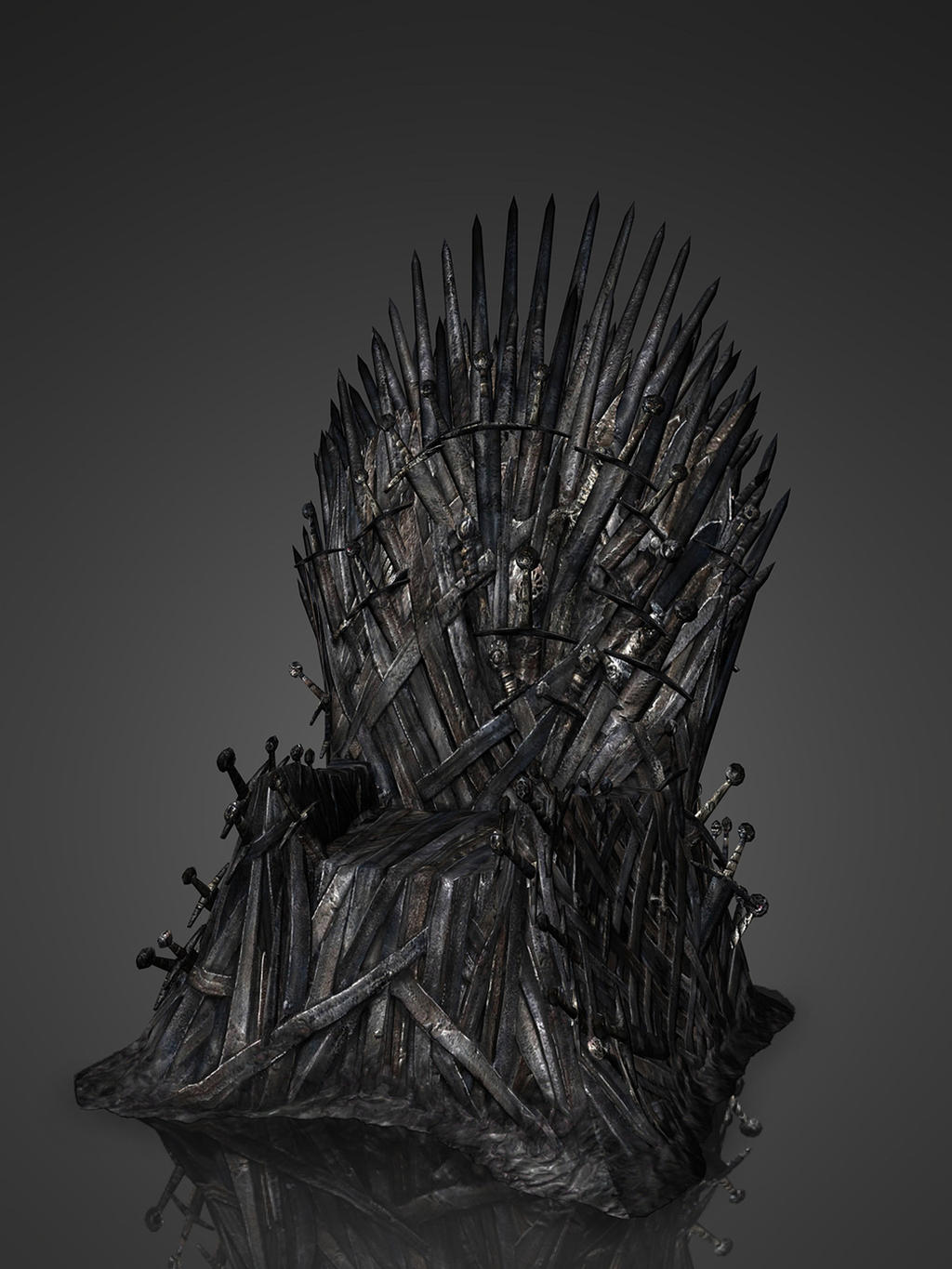 Iron throne xps by deexie on deviantart for Iron throne painting